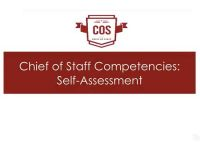 Video 6: Chief of Staff Competencies: Self-Assessment