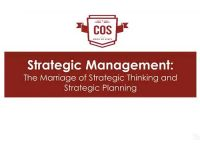 Video 5: Strategic Management, The Marriage of Strategic Thinking and Planning
